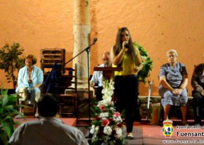 Velada Poética 2014, Raquel Palencia subida por fuensanta.info